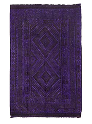 nuLOOM One-of-a-Kind Hand-Knotted Vintage Overdyed Kilim Rug, Purple, 8' 2