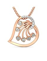 BlueStone Crown Collection 18k Rose Gold and Diamond Antonia Pendant