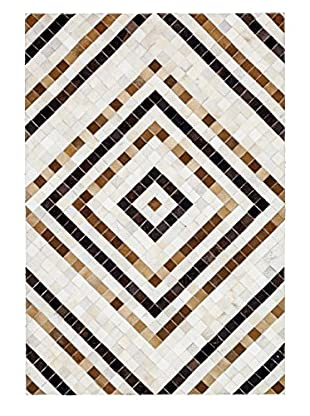 Solo Rugs Natural Cowhide Rug, Multi, 4' x 6'
