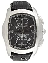 Chronotech Black Leather Men Analog Watch CT7895M32