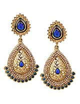 Ethnic Indian Bollywood Jewelry Set Traditional Fashion Pearl EarringsISREA050BL