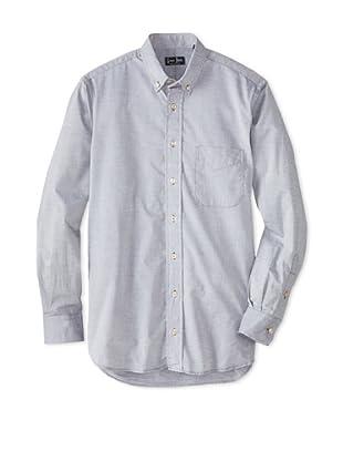 Gitman Blue Men's Solid Sportshirt (Charcoal)