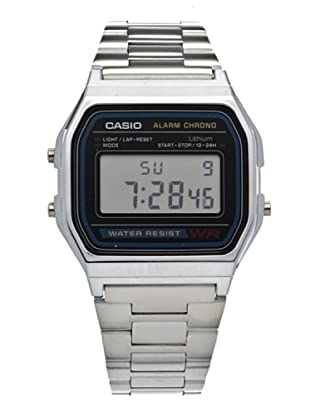 Casio A158WA1Q - Reloj Unisex Negro / Plata