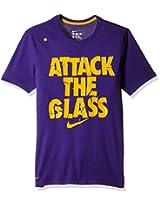 Nike Men's Round Neck Polyester T-Shirt