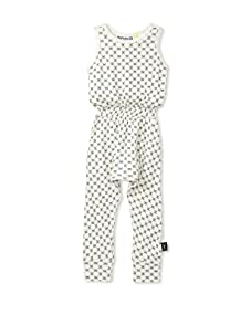 NUNUNU Kid's Checkered Romper (White)