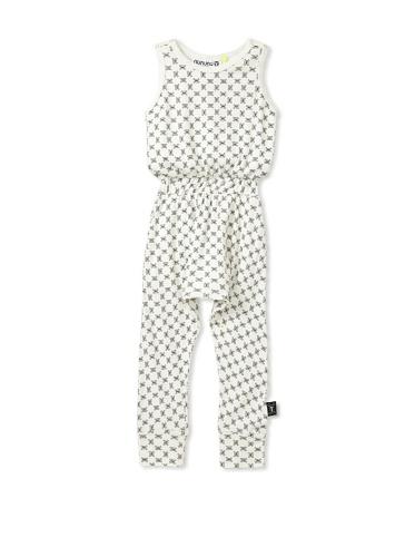 NUNUNU Kid's Checkered Romper (White)