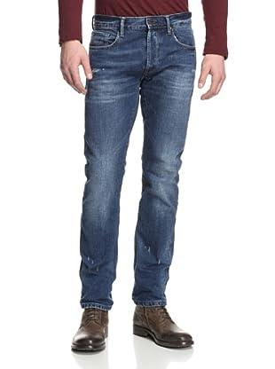 Rockstar Denim Men's Slim Fit 5 Pocket Jeans (Medium Wash)