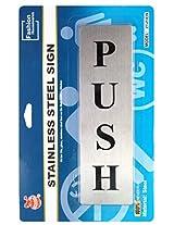 Self Adhesive Stainless Steel PUSH Metal Signage Board