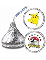 216 Pokemon Hershey Kiss Stickers Labels Party Favors