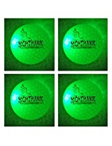 NEW 4 Green Nighthawk Glow In Dark LED Light Up Golf Balls Official Size Constant Lit