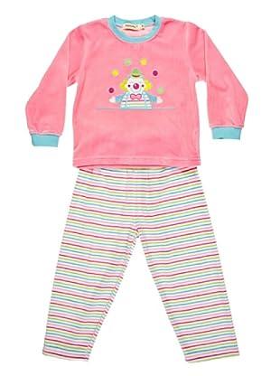 Bebesvelt Pijama Infantil Velour Bordado (Rosa)