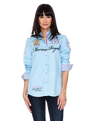 Geographical Norway Camisa Manga Larga Zeliana (Azul Cielo)