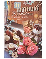 Signature Birthday Resolutions Greeting Card with Envelope, 19 x 29 cms