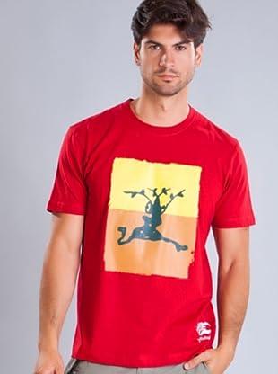 Timberland Camiseta Bicolor (Rojo)