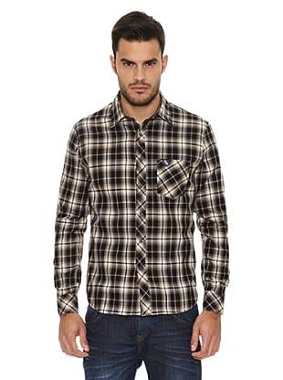 Replay Camisa Cuadros Urban (Negro)