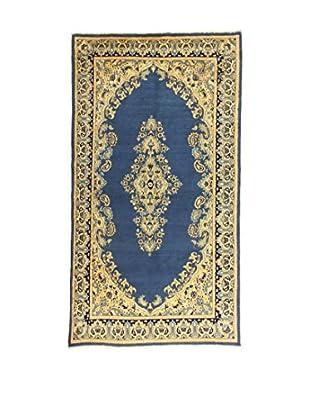 L'Eden del Tappeto Teppich Kerman blau/elfenbein 216t x t118 cm
