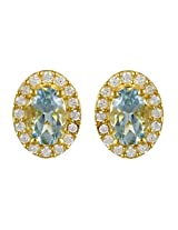Exxotic Diva Fashion Gold Plated Silver Stud Earring For Girls & Women