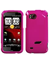 Solid Hot Pink Phone Protector Faceplate Cover For HTC ADR6425(Rezound)