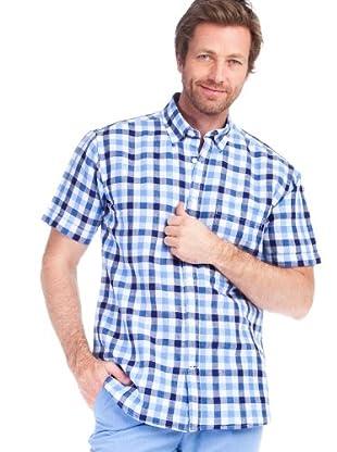 Cortefiel Camisa Sport Cuadros (Azul Marino / Azul Claro)