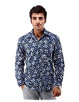 Albelishop Men's Button Front Shirt (FI005_XL, Multi-Colour, XL)