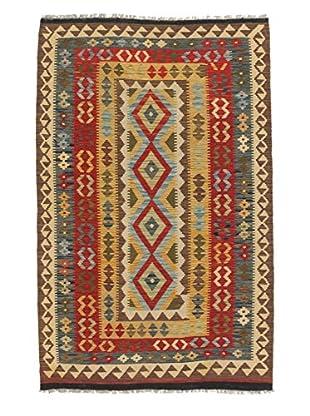 eCarpet Gallery One-of-a-Kind Anatolian Kilim Rug, Light Orange/Red, 4' 3