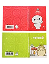 Mini Big hero & Totoro sticky notes and Post it Flags Set of 2 - Red