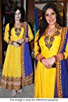 Bollywood Replica Zarine Khan 60 GM Georgette Suit In Yellow and Blue Colour NC590