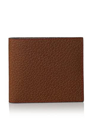 Leone Braconi Men's Bi-Fold Wallet, Cognac, One Size