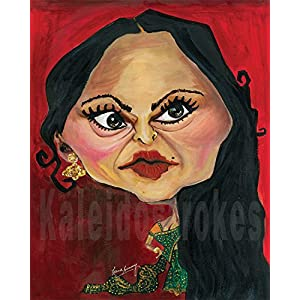 Kaleidostrokes Caricature - Rekha