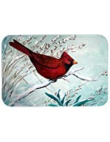 Caroline's Treasures PJC1110CMT Cardinal Winter Bird Kitchen or Bath Mat, 20 by 30 , Multicolor