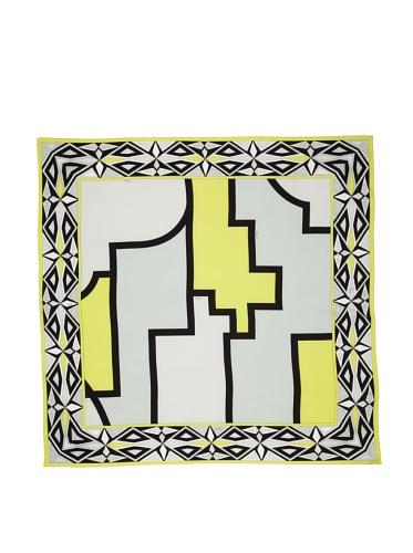 Emilio Pucci Women's Geometric Square Scarf (Acid Green)