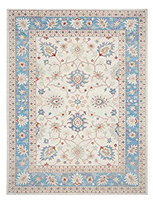 Bashian Rugs One-of-a-Kind Hand Knotted Paki Oushak Rug, Ivory, 9' x 11' 10