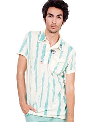 Custo T-Shirt (Beige/Türkis)