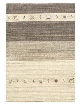 Luribaft Gabbeh Riz Modern Rug, Light Grey, 4' 1