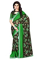 Dlines Green coloured printed saree