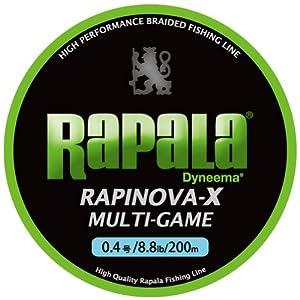 【クリックで詳細表示】Amazon.co.jp | Rapala(ラパラ) ライン ラピノヴァX マルチゲーム 0.4号 8.8lb 200m ライムグリーン RLX200M | スポーツ&アウトドア 通販