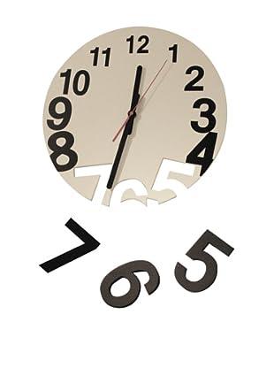 World Friendly World Gravity Wall Clock, White