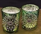 Giftwallas Glass Votives ( Green, 7.5X6 cm )