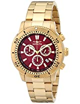 "Invicta Men's 10361 ""Specialty"" 18k Gold Ion-Plated Watch"
