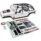 Axial 1/10 SCX10 2012 Jeep Wrangler Unlimited C/R WHITE BODY CASEY CURRIE