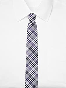 Original Penguin Men's Firecrest Plaid Tie (Purple)