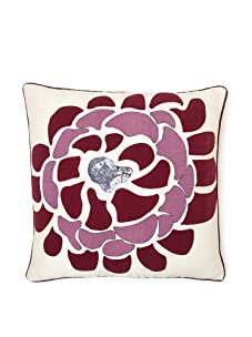 "Design Accents Bloom Throw Pillow, Ivory, 20"" x 20"""