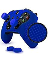 Particle Grip Studded Skin Set For Xbox One By Foamy Lizard Patent Pending Silicone Skin Cover Antislip Studs Plus A Matching Set Of 4 Ace Shot Analog Thumb Grips Blue