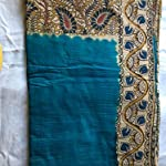 Blue Kalamkari Saree With blouse piece