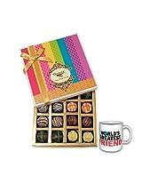 Colorful Treat To Your Friend With Friendship Mug - Chocholik Belgium Chocolates