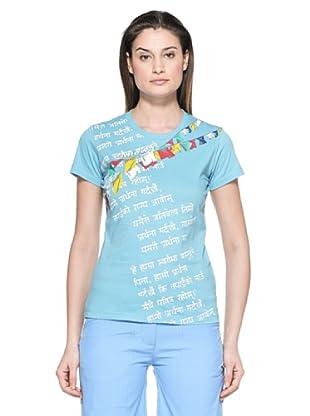 Salewa Camiseta Sherpa P. Co W (Azul Cielo)