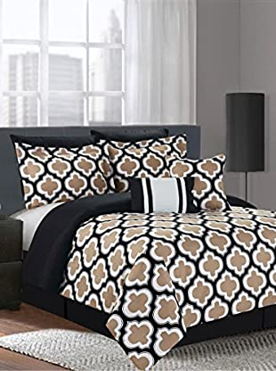 Luxury Home 7-Piece Grandview Printed Comforter Set