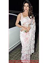 Bollywood Replica Priyanka Chopra Net And Dhupion Saree In Baby Pink Colour Nc 579