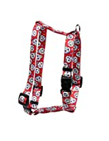 Yellow Dog Design Sugar Skulls 20-Inch to 28-Inch Harness, Large, Red