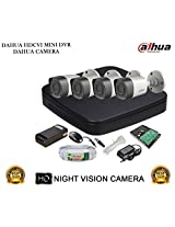 DAHUA HDCVI 4CH DH-HCVR4104C-S2 DVR + DAHUA HDCVI DH-HAC-HFW1000RP BULLET CAMERA 4Pcs + 1 TB WD HDD + 3+1 COPPER CABLE + POWER SUPPLY (FULL COMBO)